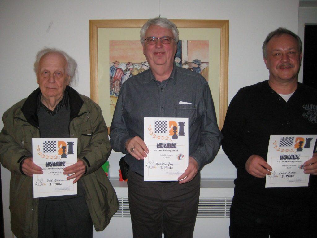 Siegerbild:Rolf Gehlen, Karl-Otto Jung, Gerald Dietze