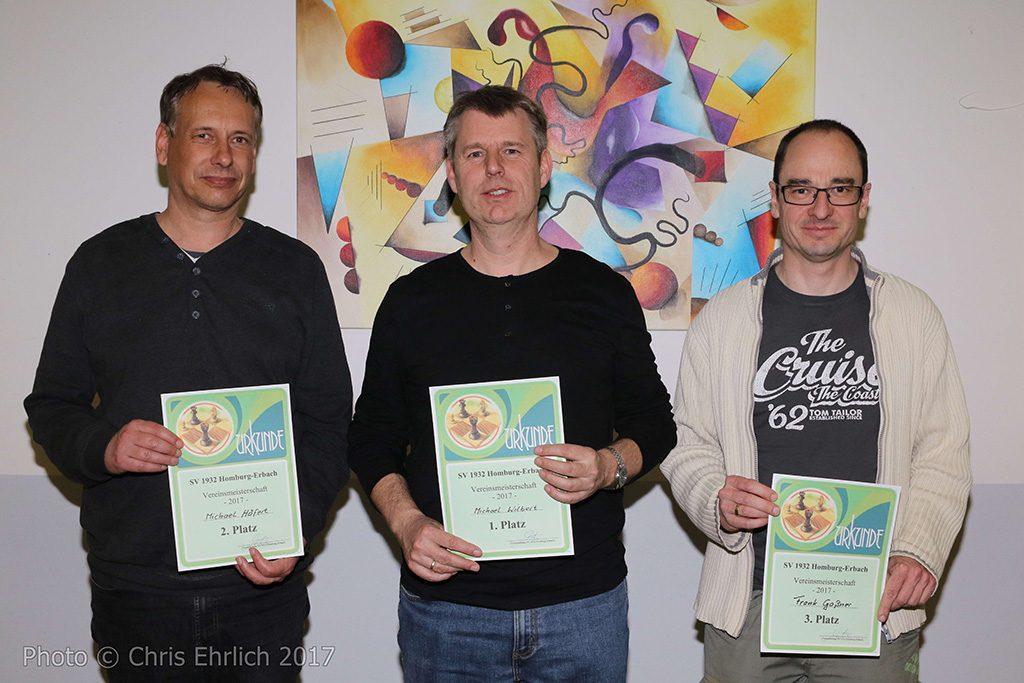Schach-Vereinsmeister 2017 Erbach